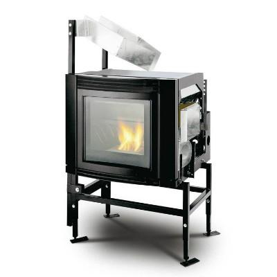 Inserto a pellet Ventilazione Frontale Vetro Estetico Palazzetti